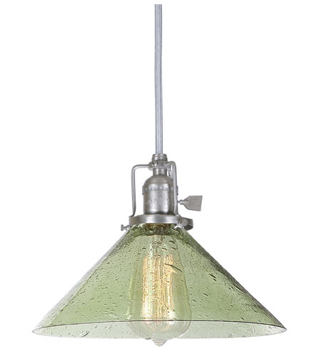 JVI Designs 1200-17-S2-LB Union Square 1 Light 10 inch Pewter Pendant Ceiling Light in Lime Seeded, S2 photo