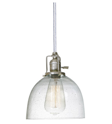 JVI Designs 1200-17-S5-CB Union Square 1 Light 7 inch Pewter Pendant Ceiling Light in Seeded, S5 photo