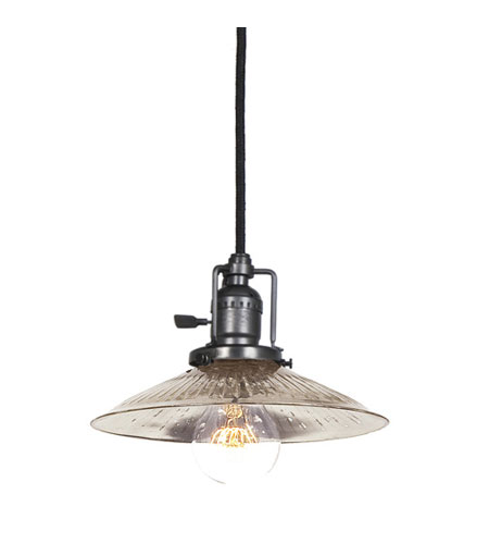 JVI Designs 1200-18-S1-SR Union Square 1 Light 8 inch Gun Metal Pendant Ceiling Light photo