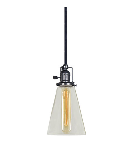 JVI Designs 1200-18-S10 Union Square 1 Light 5 inch Gun Metal Pendant Ceiling Light photo