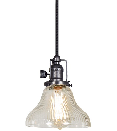JVI Designs 1200-18-S11-CR Union Square 1 Light 7 inch Gun Metal Pendant Ceiling Light photo