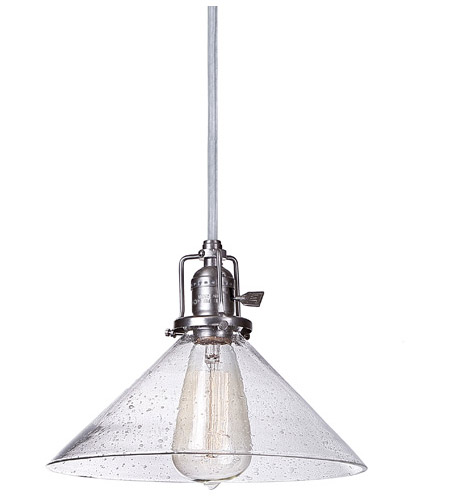 JVI Designs 1201-18-S2-CB Union Square 1 Light 10 inch Gun Metal Pendant Ceiling Light in Seeded, S2 photo