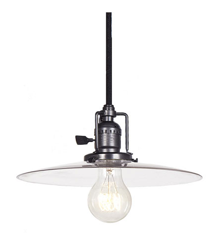 JVI Designs 1200-18-S6 Union Square 1 Light 10 inch Gun Metal Pendant Ceiling Light photo