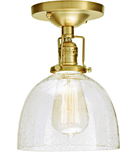 JVI Designs 1202-10-S5-CB Union Square Madison 1 Light 7 inch Satin Brass Flush Mount Ceiling Light in Clear Bubble Glass photo