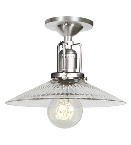 JVI Designs Union Square 1 Light Semi-Flush Mount in Pewter 1202-17-S1-CR photo