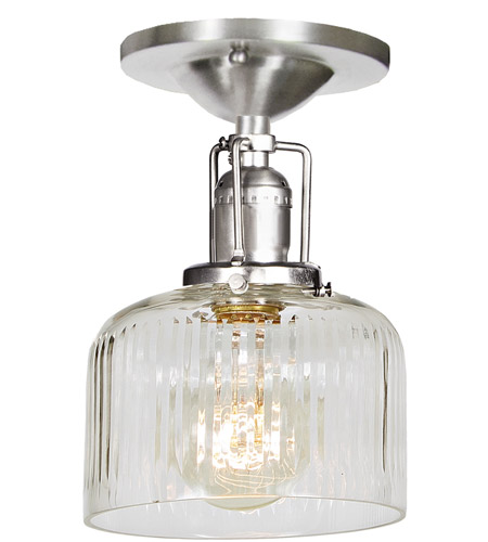 JVI Designs 1202-17-S4-CR Union Square 1 Light 5 inch Pewter Flush Mount Ceiling Light photo
