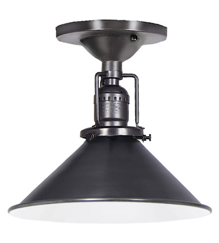JVI Designs 1202-18-M3 Union Square 1 Light 8 inch Gun Metal Flush Mount Ceiling Light photo