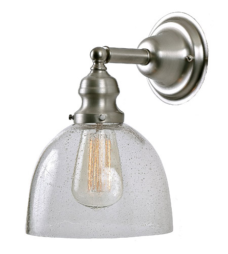JVI Designs 1210-17-S5-CB Union Square 1 Light 7 inch Pewter Wall Sconce Wall Light in Seeded, S5 photo