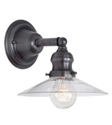 JVI Designs 1210-18-S1 Union Square 1 Light 8 inch Gun Metal Wall Sconce Wall Light photo