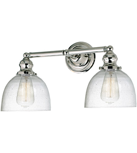 JVI Designs 1211-15-S5-CB Union Square Madison 2 Light 19 inch Polished Nickel Bathroom Wall Sconce Wall Light photo