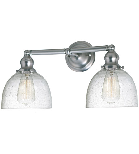 JVI Designs 1211-17-S5-CB Union Square Madison 2 Light 19 inch Satin Nickel Bathroom Wall Sconce Wall Light photo