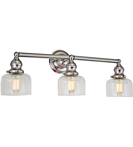 JVI Designs 1212-17-S4 Union Square Shyra 3 Light 25 inch Satin Nickel Bathroom Wall Sconce Wall Light photo