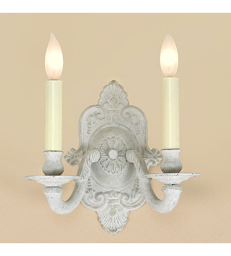 JVI Designs Decorative 2 Light Wall Sconce in Antique White 219-11 photo