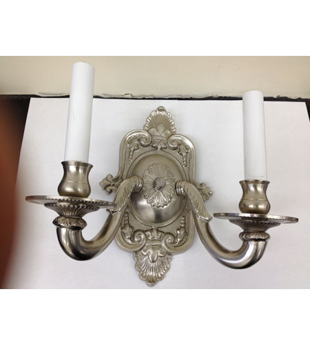 JVI Designs Decorative 2 Light Wall Sconce in Pewter 219-17 photo