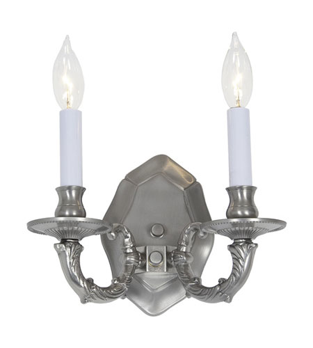 JVI Designs Decorative 2 Light Wall Sconce in Pewter 224-17 photo
