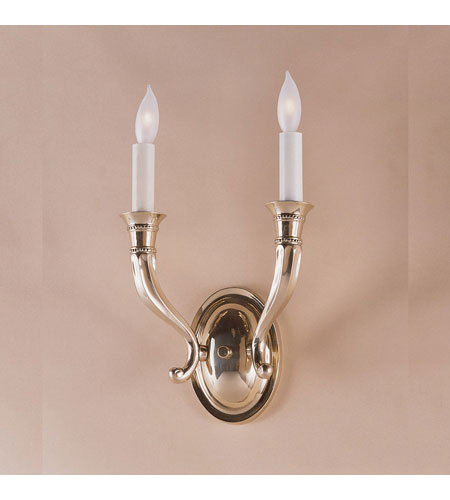JVI Designs Contemporary 2 Light Wall Sconce in Rubbed Brass 230-10 photo
