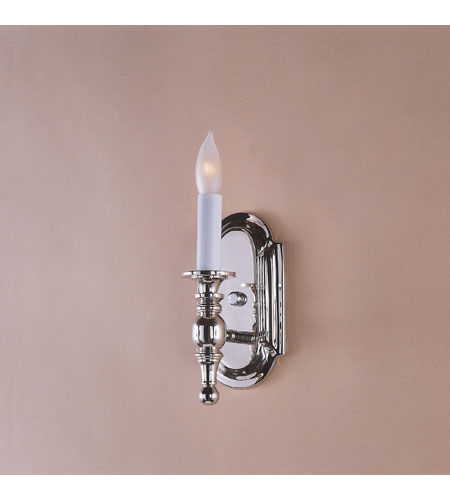 JVI Designs Scandinavian 1 Light Wall Sconce in Polished Nickel 243-15 photo