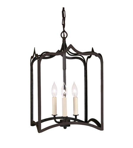 JVI Designs 3002-26 Gothic 3 Light 12 inch Matte Black Foyer Lantern Ceiling Light photo