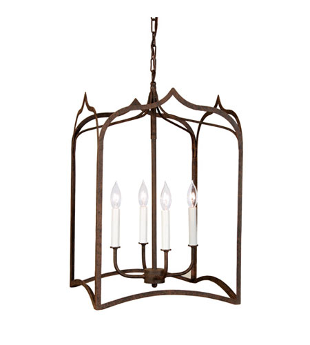 JVI Designs 3003-22 Gothic 4 Light 15 inch Rust Hanging Lantern Pendant Ceiling Light photo