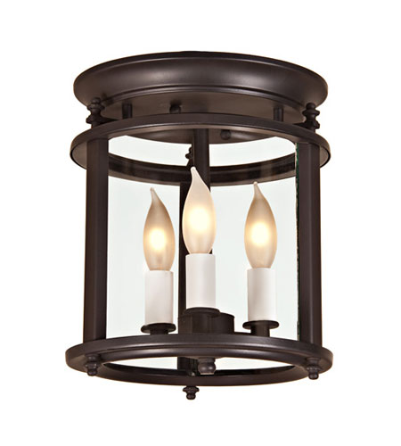 JVI Designs 3019-08 Murray Hill 3 Light 8 inch Oil Rubbed Bronze Flush Mount Ceiling Light photo