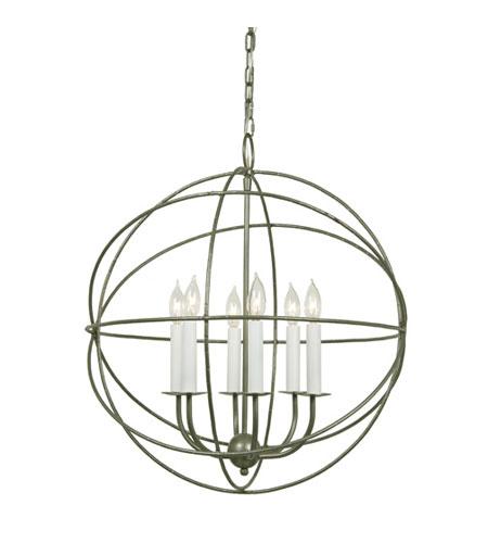 JVI Designs Globe 6 Light Chandelier in Aged Silver 3033-23 photo