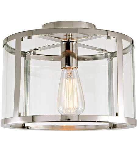 Jvi Designs 3060 15 Bryant 1 Light 12 Inch Polished Nickel Semi Flush Mount Ceiling