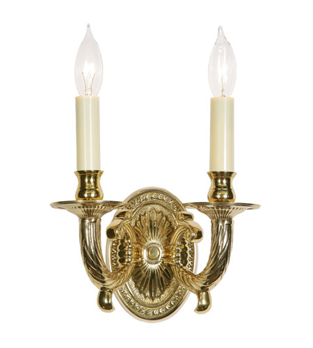 JVI Designs 308-01 Petal 2 Light 9 inch Polished Brass Wall Sconce Wall Light photo