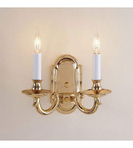 JVI Designs Elite 2 Light Wall Sconce in Polished Brass 310-01 photo