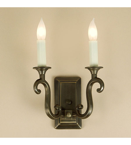 JVI Designs Rectangular 2 Light Wall Sconce in Oil Rubbed Bronze 320-08 photo