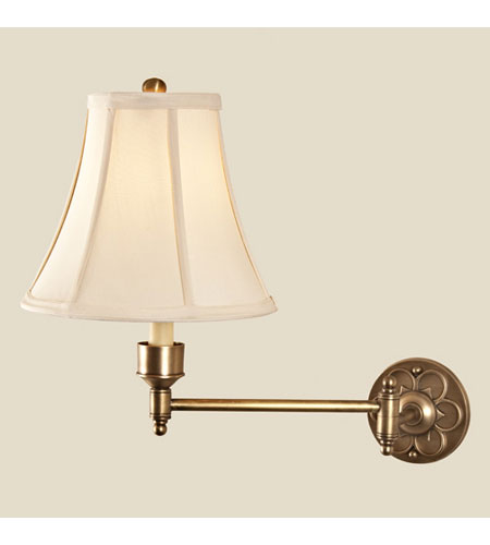 JVI Designs Oval 1 Light Swing Arm Sconce in Rubbed Brass 329-10 photo