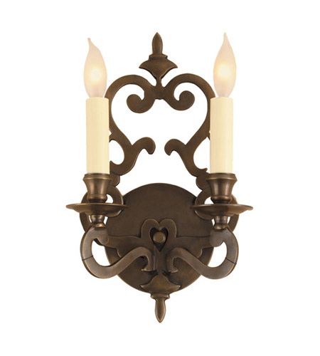 JVI Designs 344-08 Scroll 2 Light 8 inch Oil Rubbed Bronze Wall Sconce Wall Light photo