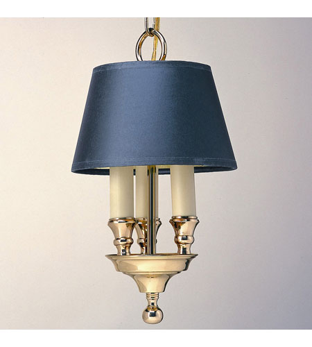 JVI Designs 704-01 Traditional Brass 3 Light 8 inch Polished Brass Library Pendant Ceiling Light photo