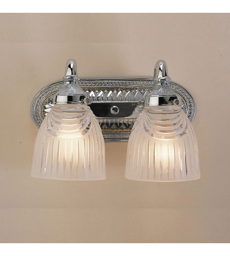 JVI Designs 708-06 Cast Brass 2 Light 12 inch Polished Chrome Bath Sconce Wall Light photo