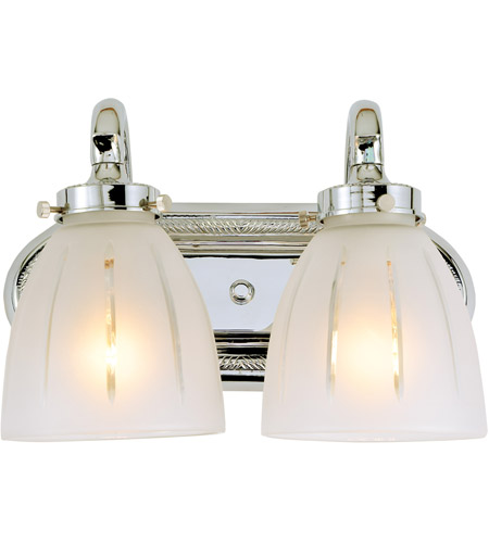 Jvi designs traditional 2 light bath sconce in polished chrome 714 06 Traditional bathroom accessories chrome