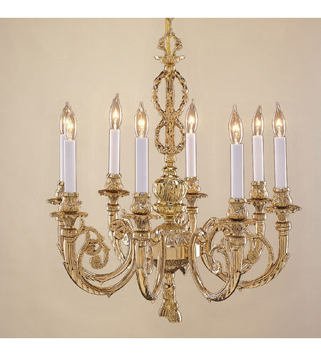 JVI Designs Majestic 8 Light Chandelier in Antique Brass 758-05 photo
