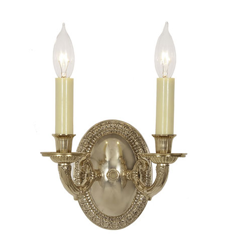 JVI Designs 808-01 Edmington 2 Light 8 inch Polished Brass Wall Sconce Wall Light photo