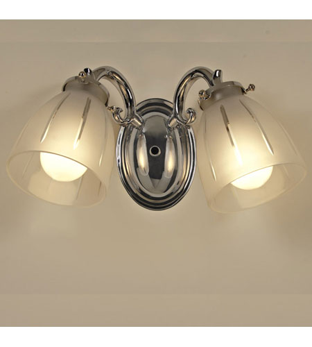JVI Designs Signature 2 Light Bath Sconce in Polished Chrome 824-06 photo