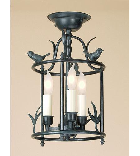 JVI Designs Bird Cage 3 Light Semi-Flush Mount in Verde 924-25 photo