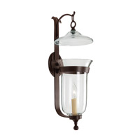 JVI Designs Bell Jar 1 Light Large Bell Wall Sconce in Oil Rubbed Bronze with Clear Glass 1000-08