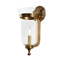 JVI Designs Bell Jar 1 Light Small Bell Wall Sconce in Rubbed Brass with Clear Glass 1001-10