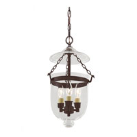 JVI Designs Bell Jar 3 Light Hanging Bell Pendant in Oil Rubbed Bronze 1008-08