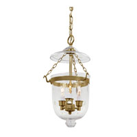 JVI Designs Bell Jar 3 Light Hanging Bell Pendant in Rubbed Brass 1009-10