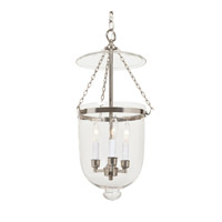 Hundi 3 Light 13 inch Polished Nickel Bell Jar Pendant Ceiling Light