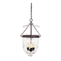 JVI Designs Bell Jar 3 Light Medium Hanging Bell Pendant in Oil Rubbed Bronze with Star Glass 1022-08