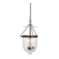 JVI Designs Bell Jar 3 Light Medium Hanging Bell Pendant in Oil Rubbed Bronze with Diamond Glass 1024-08
