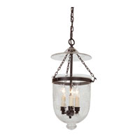 JVI Designs Bell Jar 3 Light Hanging Bell Pendant in Oil Rubbed Bronze 1025-08