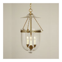 JVI Designs Bell Jar 3 Light Hanging Bell Pendant in Antique Brass 1026-05