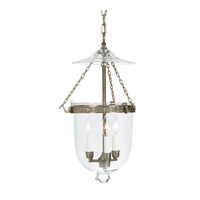 JVI Designs Bell Jar 3 Light Hanging Bell Pendant in Pewter 1026-17