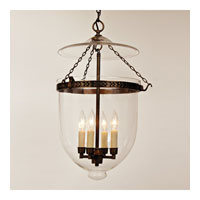 JVI Designs Bell Jar 4 Light Extra Extra Large Hanging Bell Pendant in Oil Rubbed Bronze with Clear Glass 1027-08