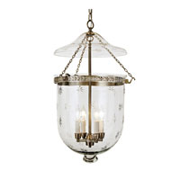 JVI Designs Bell Jar 4 Light Hanging Bell Pendant in Pewter 1028-17